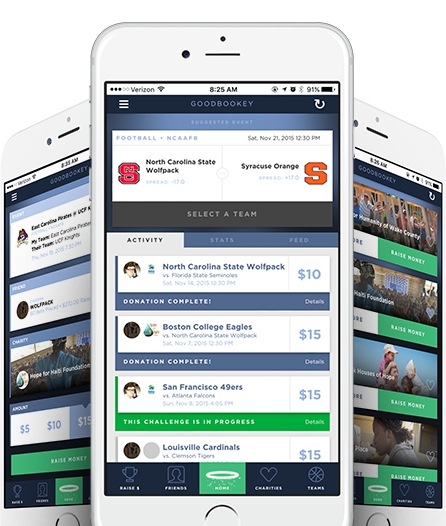 GoodBookey Charitable Gambling App